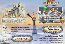 Aerial Mahjong solitairy puzzle game